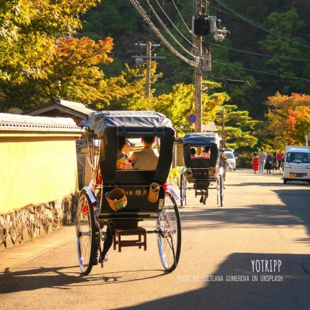 Rickshaw Puller and Guide in Kyoto