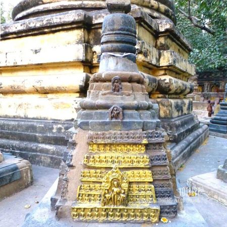 Stupas within the Mahabodhi temple Complex in Bodh Gaya 76 Votive Stupa, at the Mahabodhi Temple, Bodhgaya