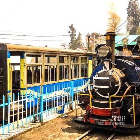 A steam train: Experience Darjeeling Himalayan Railway the famous steam locomotive from the past
