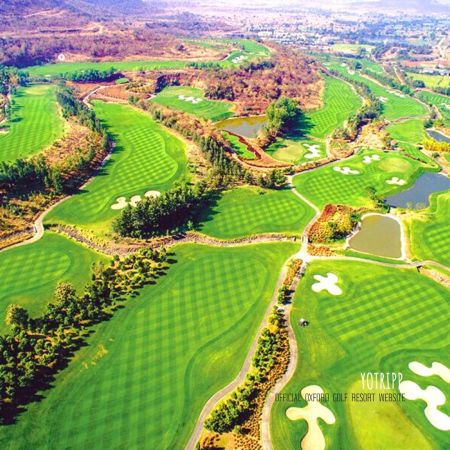 Aerial View of the Beautiful Golf Course at Oxford Golf Resort