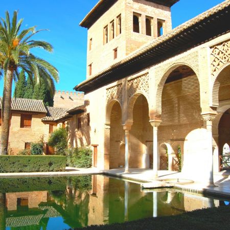 Within Alhambra palace - A Lake Near The Structure