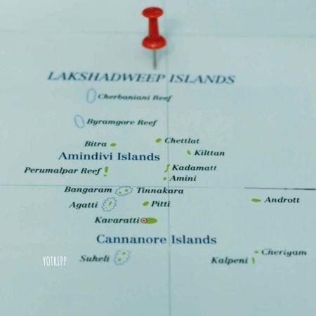 Map of Lakshadweep Islands